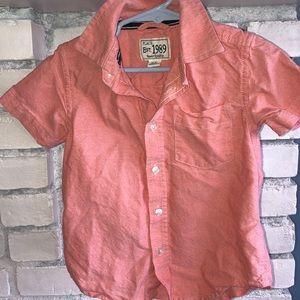 Toddler Boy Button-down Tee Shirt Dress Shirt